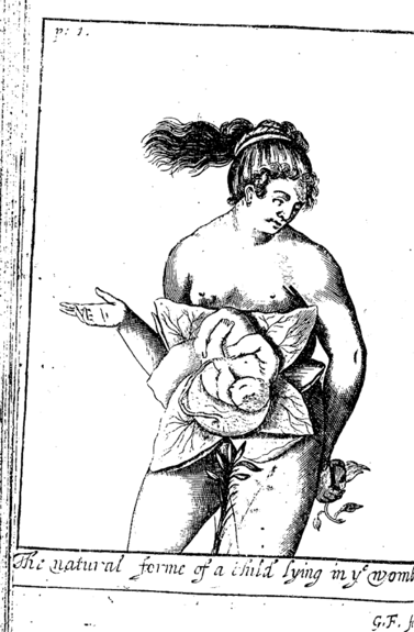 Figure 1: Thomas Chamberlayne, The complete midvvie's practice enlarged, 1680, Copy from Wellcome Institute for the History of Medicine Library, London. Accessed via Early English Books Online, National Library of Australia.